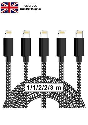 £7.99 • Buy MBYY IPhone Charger Cable 5 Pack (10FT) MFi Certified Nylon Woven High Speed Dat
