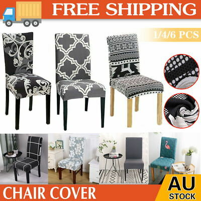 AU5.41 • Buy 1/4/6X Stretch Dining Chair Covers Spandex Removable Slipcover Banquet Washable