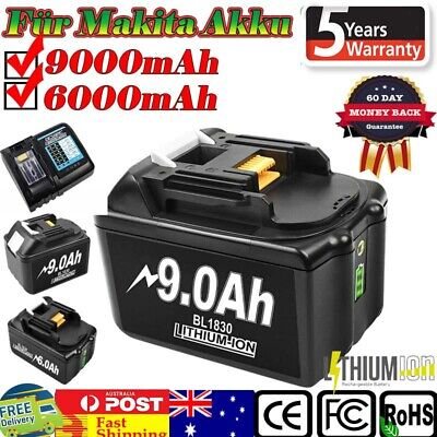 AU55.99 • Buy 9.0Ah 6.0Ah For Makita Battery 18V Lithium LXT BL1830B BL1840B BL1850B BL1860B