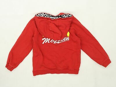 George Boys Red  Jersey Henley Hoodie Size 5-6 Years  - Disney Cars  • 4£