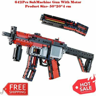 £43.66 • Buy MOC Upgraded Electric Motor Power MP5 Machine Gun Toys Technical Building Toy
