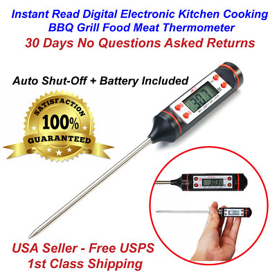 £3.51 • Buy Instant Read Digital Electronic Kitchen Cooking BBQ Grill Food Meat Thermometer