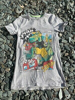 Bluezoo Dinosaur T-Shirt 9-10yrs - Comic Strip Dino Pattern Debenhams • 1.99£