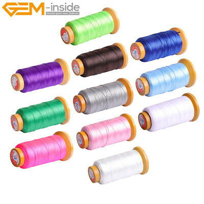 $3.90 • Buy 230 Meters 210D 0.8mm Nylon Beading Cord Knotting Jewelry Making Sewing Thread