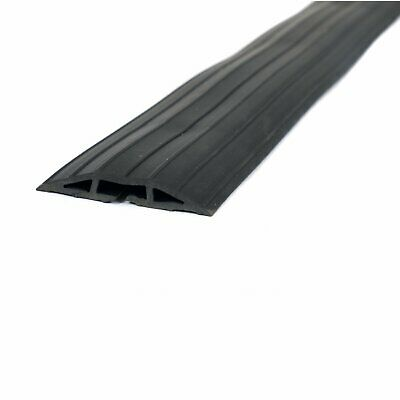 £14.99 • Buy NEW! 2m Black Rubber Floor Cable Protector Safety Trunking Ramp