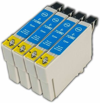 £4.80 • Buy 4 Cyan T0712 Non-OEM Ink Cartridge For Epson Stylus DX7450 DX8400 DX8450 DX9400