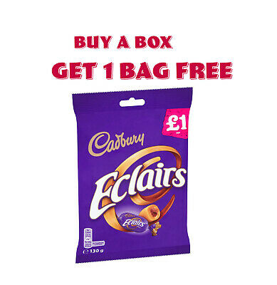 £11.49 • Buy Cadbury Eclairs Classic Chocolate Bag 12 X 130g  BUY A BOX GET 1 BAG FREE