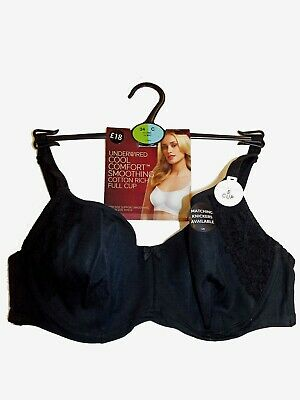 AU14.43 • Buy 40a  Marks & Spencers Black Cool Comfort,smoothing Full Underwired Bra  New