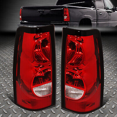 $84.88 • Buy For 03-07 Chevy Silverado Red Lens Tail Light Rear Brake Lamp W/ Wiring Harness