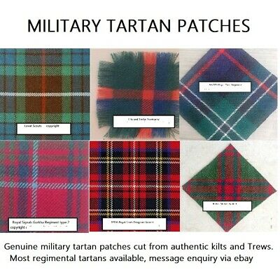 £3.99 • Buy WW2 British Army Scottish Regiment Tartan Patches Badge Backing For Arm Cap Hat