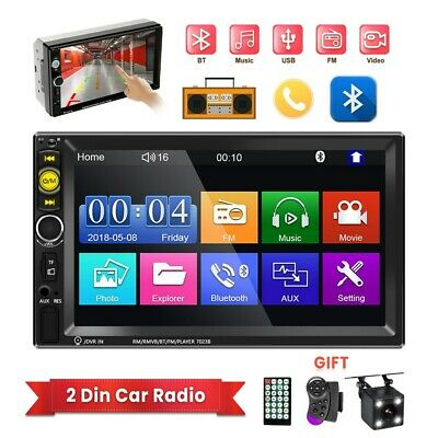 AU79.99 • Buy 7  Double 2 DIN Head Unit Car Stereo MP5 Player Touch Screen BT Radio FM/USB/AUX