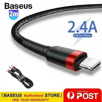 AU6.99 • Buy Baseus USB Charging Phone Cable Data Cord Charger For IPhone 12 11 7 X 8 6+ IPad