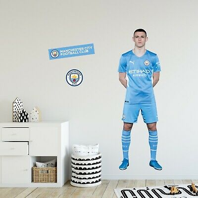 £29.99 • Buy Official Manchester City Wall Sticker - Phil Foden 21/22 Player Decal Art
