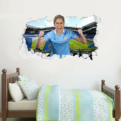 £19.99 • Buy Official Manchester City Steph Houghton 20/21 Broken Wall Sticker & Decal Set