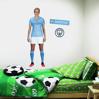 £29.99 • Buy Manchester City Steph Houghton 20/21 Player Wall Sticker + Man City Decal Set