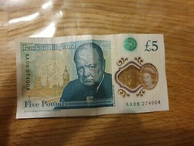 5 Pound Rare Collectable Plastic Polymer Bank Of England £5 Five Note AA08 • 19.99£