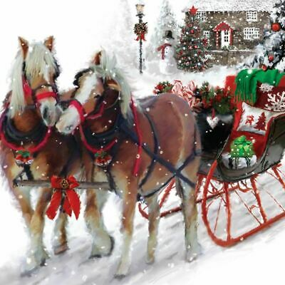 £7.79 • Buy Horses & Sleigh Christmas Greeting Sound Card Plays ' Ding Dong Merrily On High'