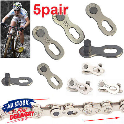AU9.75 • Buy 5 Pairs Link Connector 6/7/8/9/10/11 Speed Master Bike Chain QR + Simple Tool