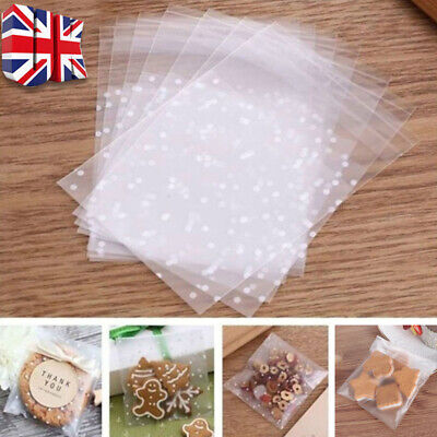 £3.79 • Buy 100x Cellophane Bags Party Cello Cookie Candy Biscuit Packaging Gift Bag 10*10cm