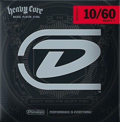 $ CDN14.68 • Buy Dunlop Heavy Core Heavy 7  Electric Guitar Strings .010 - .060 (7 String Set)