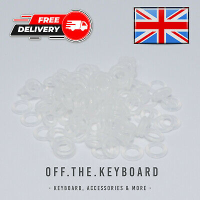 £3.99 • Buy 110Pcs Silicone Rubber O-Rings Switch Dampeners 2.5mm Clear Mechanical Keycap
