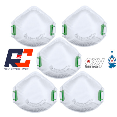 £11.99 • Buy Face Masks FFP3 Moulded Cup Shape Respirator Made In Europe PACK OF 5 Dust Mask