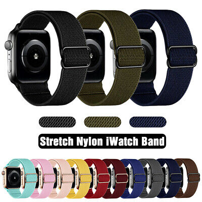 $ CDN6.03 • Buy 40/44mm Elastic Nylon Band Sport Strap For Apple Watch Series 6 5 4 3 IWatch SE