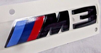$69.95 • Buy Genuine BMW F80 M3 Rear Trunk Emblem Badge Factory Black Competition Package NEW