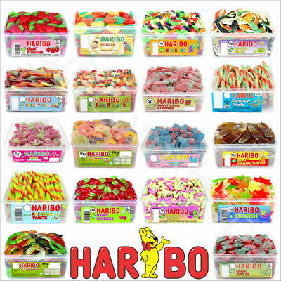1 X FULL TUB HARIBO SWEETS PICK N MIX KIDS CANDY GIFT BOX PARTY FAVOURS TREATS • 6.40£