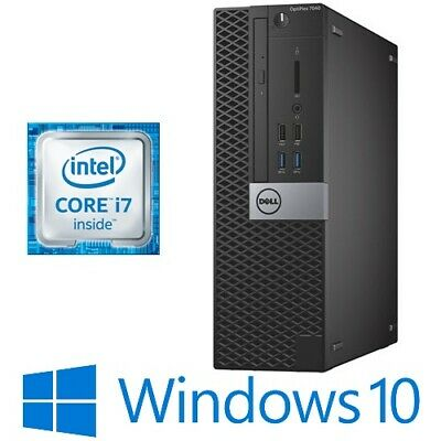 AU500 • Buy Dell Optiplex 7040 SFF PC Intel Core I7 6700 8G 256G NVMe DVDRW HDMI Win 10 Pro