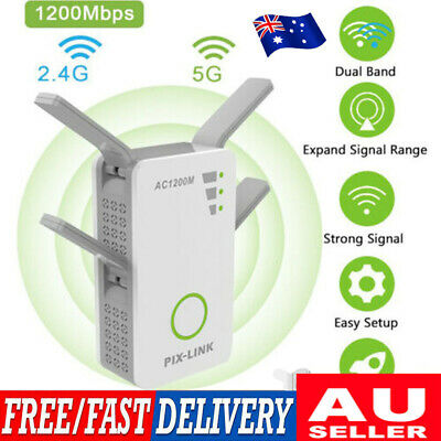 AU46.99 • Buy 1200Mbps 5G Wireless Wifi Repeater Range Extender Router Signal Booster Gifts