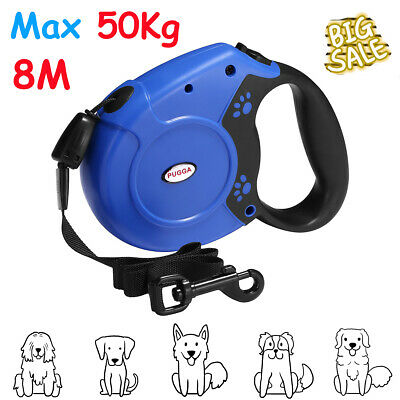 £10.29 • Buy Max 50KG Large Dog Lead Leash Strong Retractable Extendable Lockable Cord 8M UK