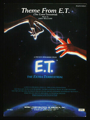 £6.35 • Buy 1982 ~Theme From The Movie E.T. (The Extra-Terrestrial) ~Australian Sheet Music