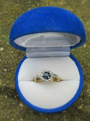 AU800 • Buy 18ct Yellow Gold Sapphire And Diamond Ring - Size M