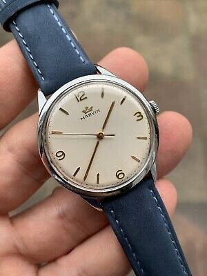 £289 • Buy 1950s Marvin Vintage Mens Dress Watch Swiss Cal.560 36,7mm Lovely!