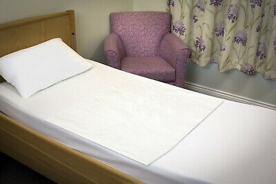 £13.50 • Buy Absorbent Reusable, Incontinence Bed Pad Mattress Protection, White. Twin Pack