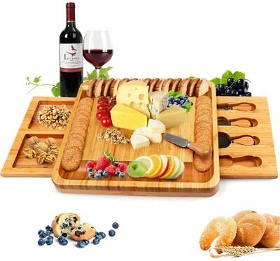 £41.99 • Buy Bamboo Cheese Board With Cheese Knife Set