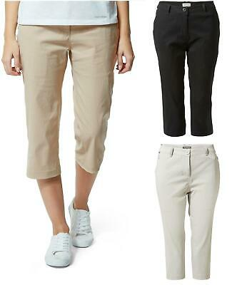 £32.99 • Buy Craghoppers Womens Kiwi Pro Crop Stretch Trouser Zipped Pockets UPF Cropped