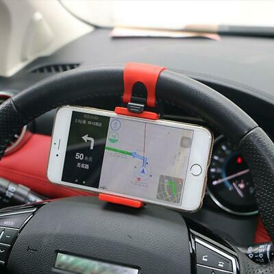 £4.95 • Buy 1× Car Interior Gps Phone Holder Mount Stand Steering Wheel Clip Accessories Red