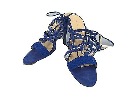$ CDN26.55 • Buy Ivanka Trump High Heel Women Shoes Blue Suede Leather  Size 8 1/2M Strappy