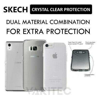 £6.99 • Buy Skech Crystal Clear Slim Tough Snapon Case Cover For Samsung Galaxy Apple IPhone