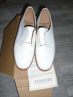 £45 • Buy Sander Womens Royal Navy White Leather Tropical Shoes Size 4m Genuine Issue