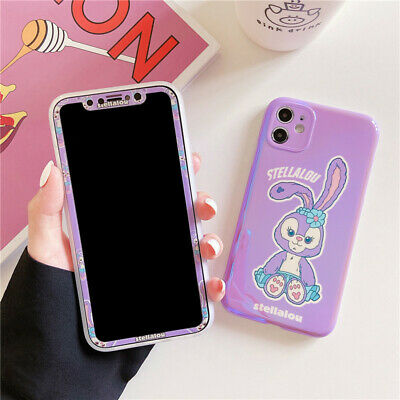 AU12.71 • Buy Cute Cartoon Rabbit Case For IPhone 12 Pro Max 11 XS XR 6 7 8+ Cover +Glass Film