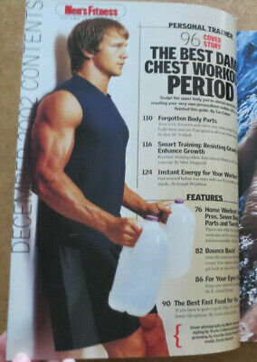 $ CDN24.18 • Buy MEN'S FITNESS MAGAZINE Rusty Joiner Home Workout David Sinclair Shirtless Muscle