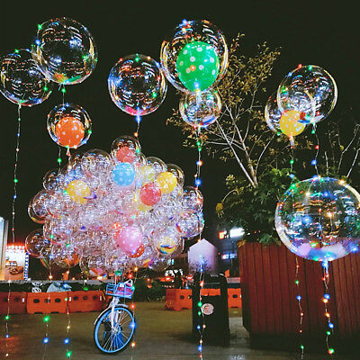 AU6.95 • Buy Bulk Helium Bobo Ballon LED Light Balloon For Birthday Wedding Party Decoration