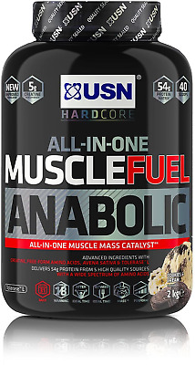 £29.99 • Buy USN Muscle Fuel Anabolic All-In-One Muscle Builder Protein Shake, With Creatine