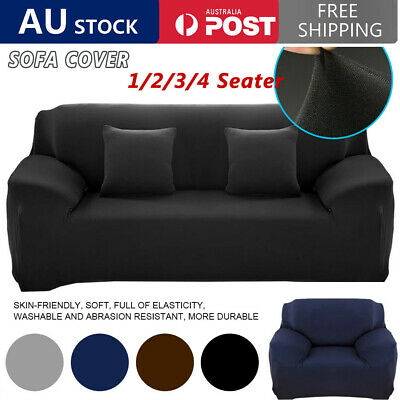 AU23.52 • Buy Sofa Cover 1/2/3 Seater Stretch Lounge Slipcover Chair Protector Couch Washable