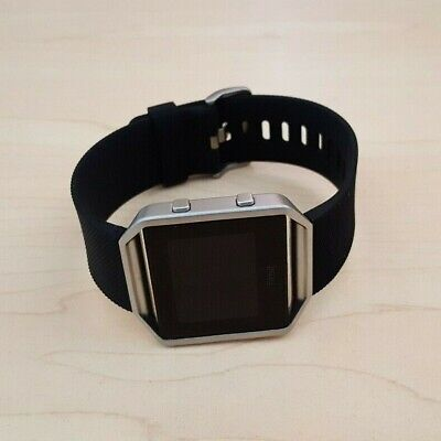 AU59.50 • Buy Fitbit Blaze Smart Watch Fitness Activity Tracker Black Silver Small -NO CHARGER
