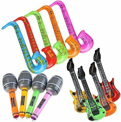 £20.99 • Buy Inflatable Instruments Fancy Dress Musical Party Accessories Guitar Saxaphone