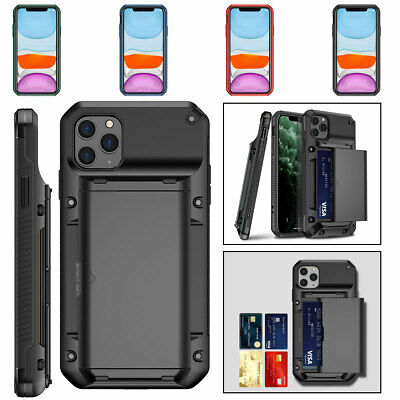 AU13.45 • Buy Shockproof Wallet Card Slot Case Cover For IPhone 12 11 Pro Max XS XR X 8 7 SE2